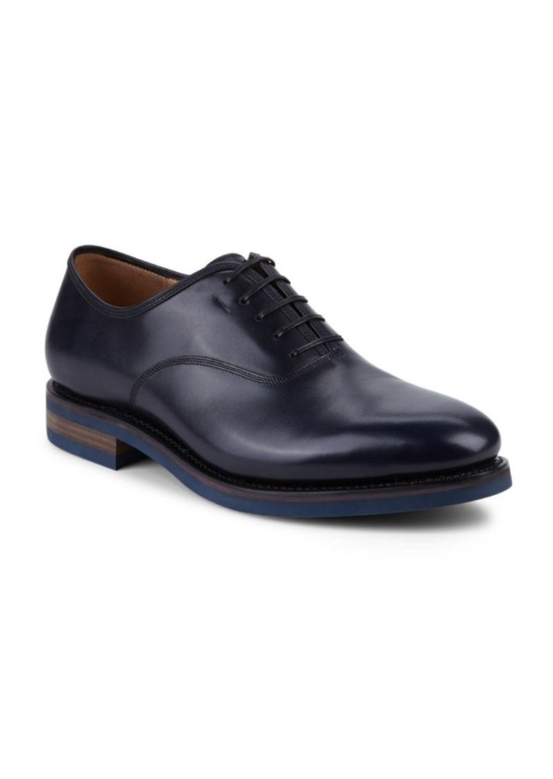 Salvatore Ferragamo Lace-Up Leather Oxfords