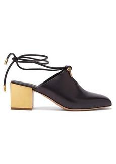 Salvatore Ferragamo Laino gold-heel leather mules