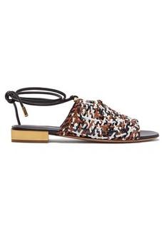 Salvatore Ferragamo Laino woven-leather sandals