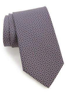 Salvatore Ferragamo Lampo Gancini Pattern Silk Tie