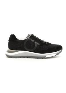 Salvatore Ferragamo Leather And Mesh Brooklyn Sneakers
