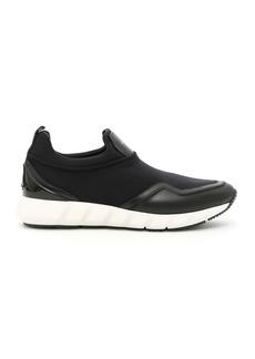 Salvatore Ferragamo Leather And Nylon Columbia Sneakers