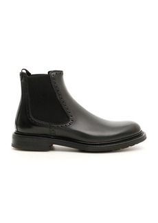Salvatore Ferragamo Leather Barrow Boots