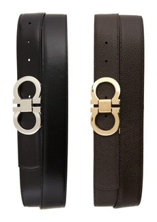 Salvatore Ferragamo Leather Belt Box Set