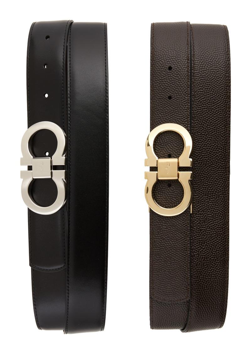 Salvatore Ferragamo Leather Belt Box Set