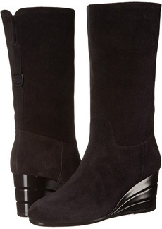 Salvatore Ferragamo Leather Boot With Wedge
