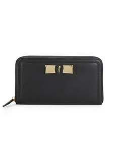 Ferragamo Leather Continental Wallet