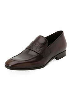 Ferragamo Men's Leather Gancio-Stamped Loafer