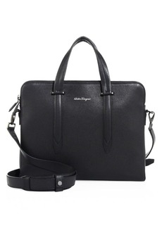 Ferragamo Leather Messenger Bag