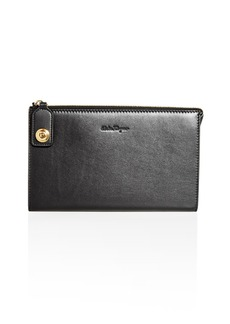 Salvatore Ferragamo Leather Runway Pouch
