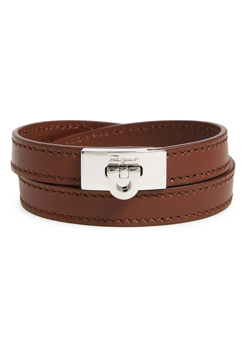 Salvatore Ferragamo Leather Wrap Bracelet