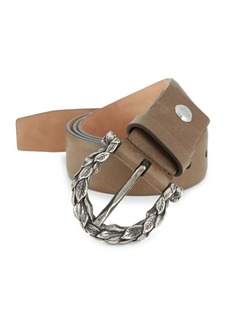 Ferragamo Leaves Leather Belt