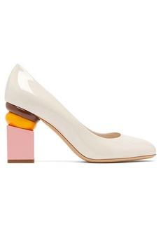 Salvatore Ferragamo Lilian block-heel patent-leather pumps