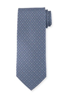 Ferragamo Linked-Gancini Pattern Silk Tie