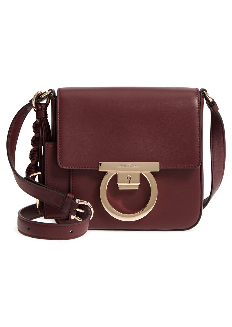 Ferragamo Salvatore Ferragamo Lock Flap Leather Crossbody Bag Now ... c3429b480a5fd
