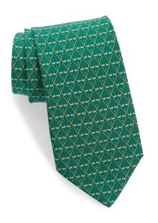 Salvatore Ferragamo Loft Golf Print Silk Tie