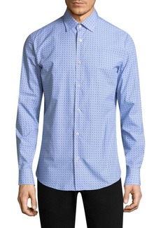 Ferragamo Logo Cotton Button-Down Shirt