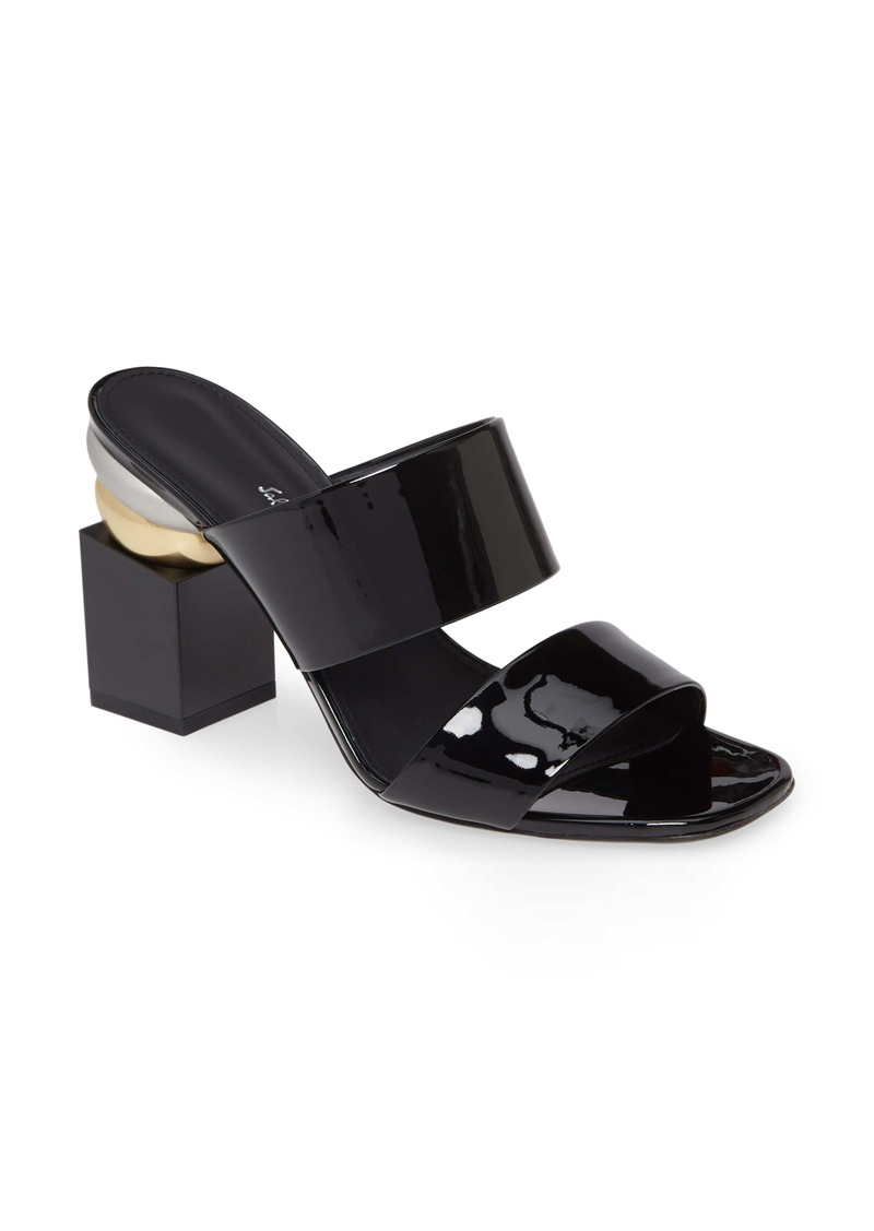 Salvatore Ferragamo Lotten Block Heel Slide Sandal (Women)