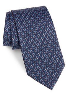 Salvatore Ferragamo Luther Gancini Pattern Silk Tie