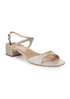 Salvatore Ferragamo Maddie Leather Open Toe Sandals