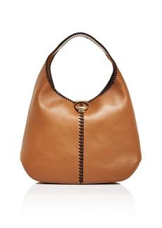 Salvatore Ferragamo Margot Whipstitch Leather Hobo
