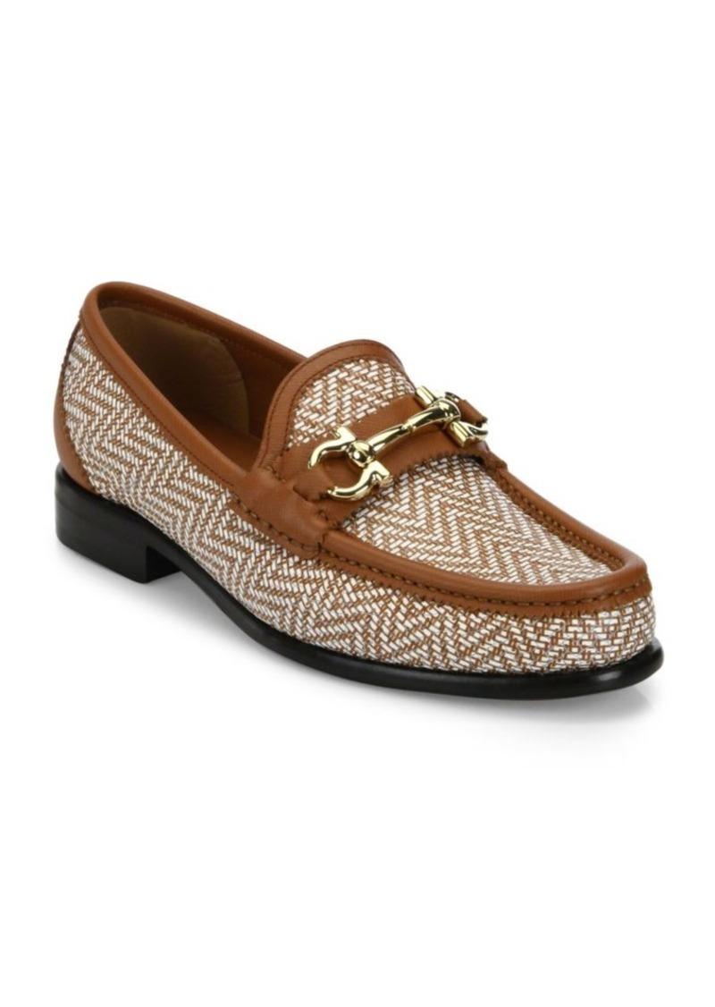 Salvatore Ferragamo Mason Leather Twist Loafers