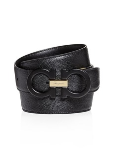 Salvatore Ferragamo Matte Double Gancini Reversible Leather Belt