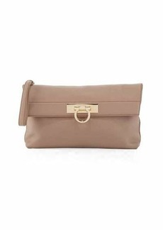 Salvatore Ferragamo May Fold-Over Clutch Bag