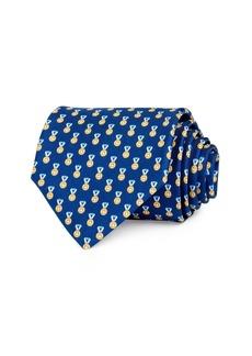 Salvatore Ferragamo Medal Silk Classic Necktie