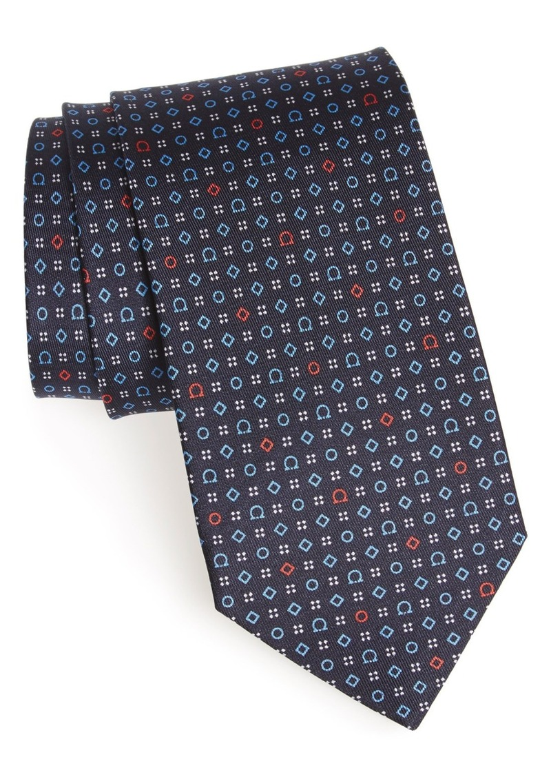 Salvatore Ferragamo Medallion Silk Tie