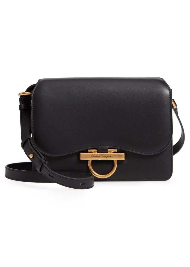 c19c25f669b4 Ferragamo Salvatore Ferragamo Medium Classic Flap Leather Shoulder ...