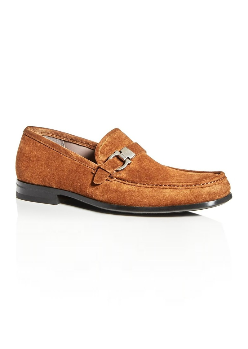 Salvatore Ferragamo Men's Adam Suede Moc-Toe Loafers