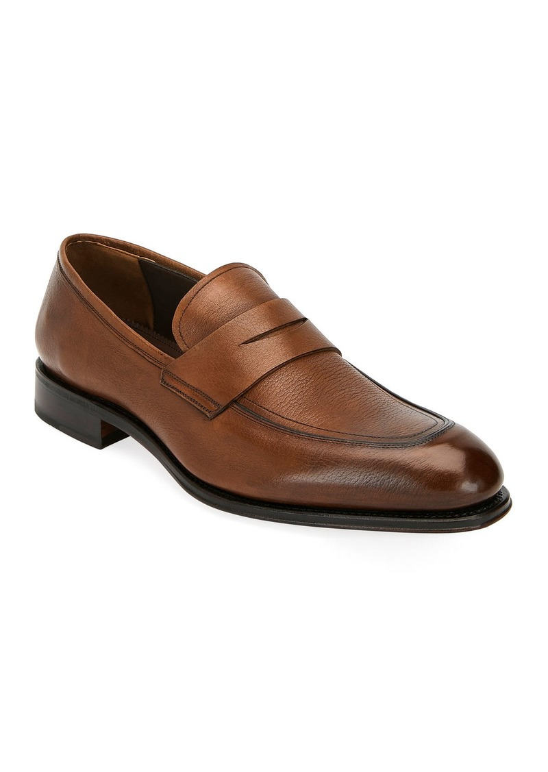 Salvatore Ferragamo Men's Akon 2 Leather Penny Loafers