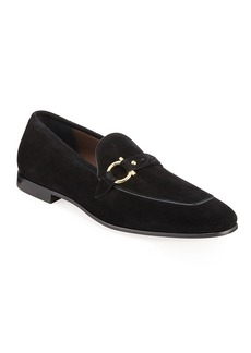 Salvatore Ferragamo Men's Alessio Gancio-Bit Loafers