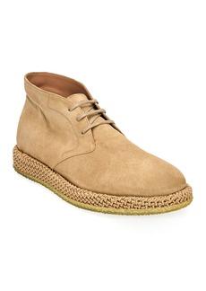 Salvatore Ferragamo Men's Alpes Suede Chukka Boots