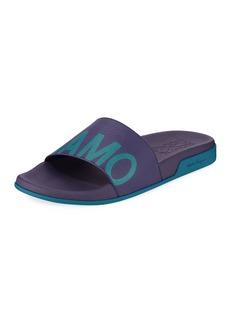 Salvatore Ferragamo Men's Amos Leather Slide Sandals