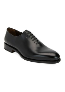 Salvatore Ferragamo Men's Amsterdam Calfskin Lace-Up Shoes