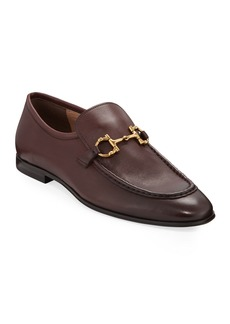 Salvatore Ferragamo Men's Anderson Leather Bit Loafers
