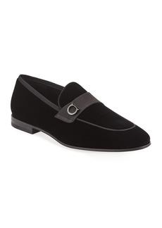 Salvatore Ferragamo Men's Andrea Velvet Loafers