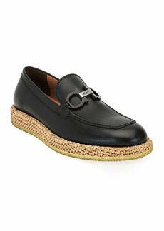 Salvatore Ferragamo Men's Arinos Bit Loafers on Rope Sole
