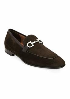 Salvatore Ferragamo Men's Ascona 2 Suede Loafers