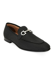 Salvatore Ferragamo Men's Ascona Woven Leather Loafers
