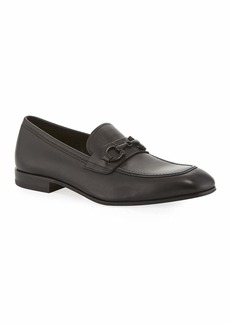 Salvatore Ferragamo Men's Asten Leather Slip-On Bit Loafers