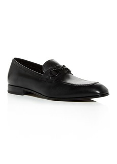 Salvatore Ferragamo Men's Asten Leather Apron-Toe Loafers