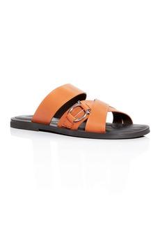 Salvatore Ferragamo Men's Atina Leather Slide Sandals