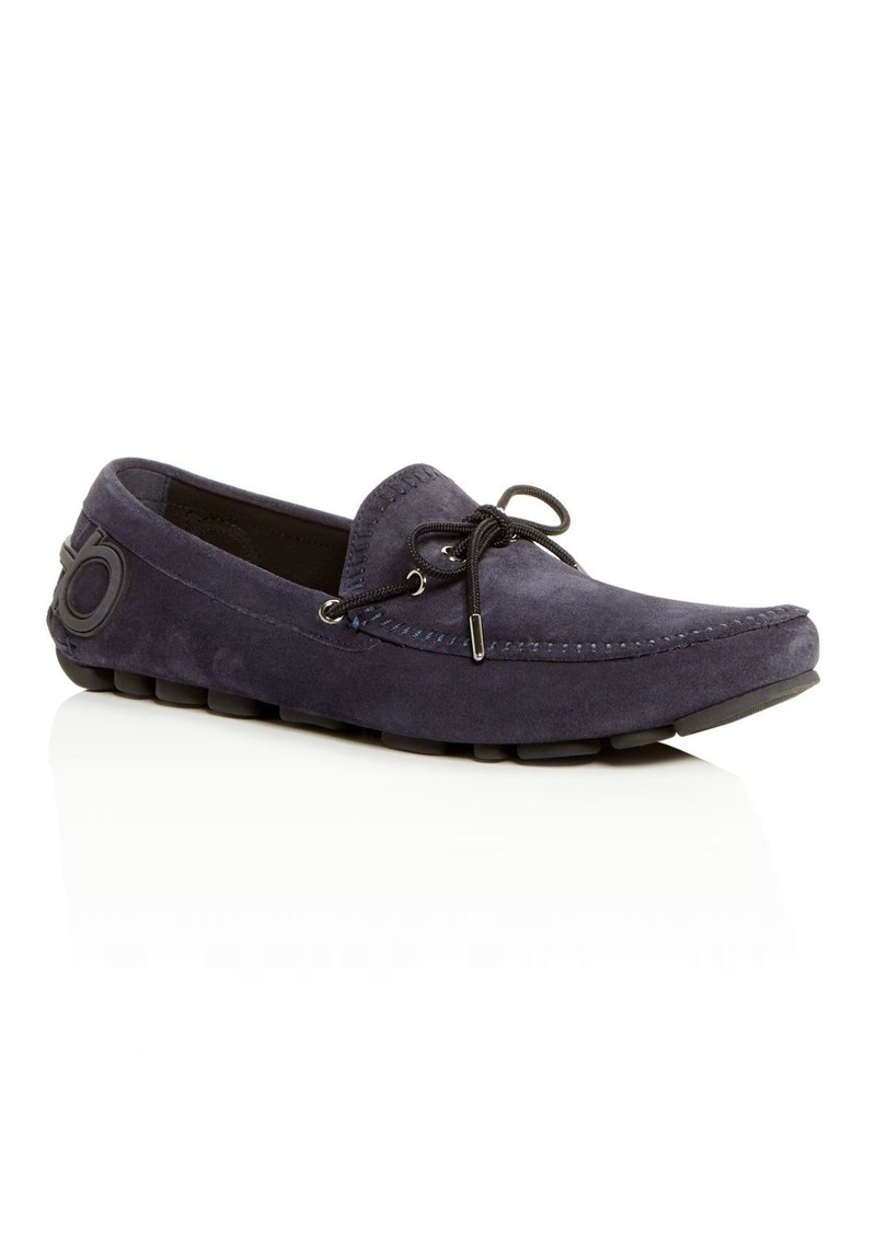 Salvatore Ferragamo Men's Atlante Suede Moc-Toe Drivers