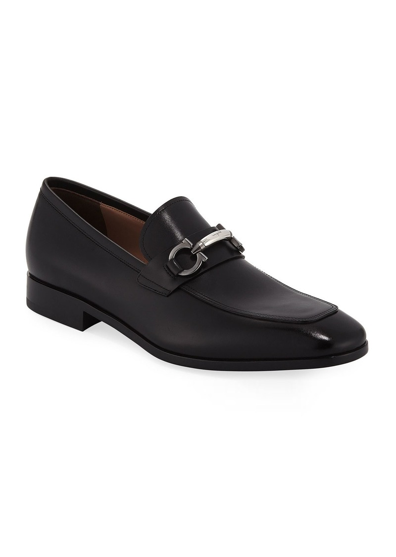 Salvatore Ferragamo Men's Benford Gancini-Bit Leather Loafer