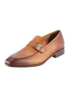 Salvatore Ferragamo Men's Benson Burnished Leather Loafer