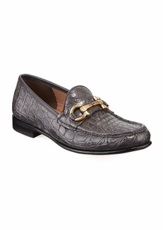 Salvatore Ferragamo Men's Bond 2 Crocodile Gancini Loafer