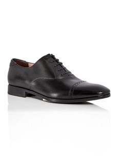 Salvatore Ferragamo Men's Boston Leather Brogue Cap Toe Loafers